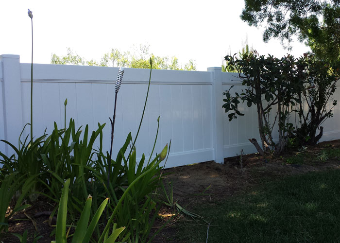 LA White Vinyl Fence Installation