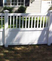 Semi Privacy Vinyl Fencing