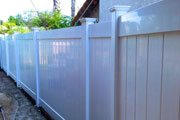 White Vinyl Fences