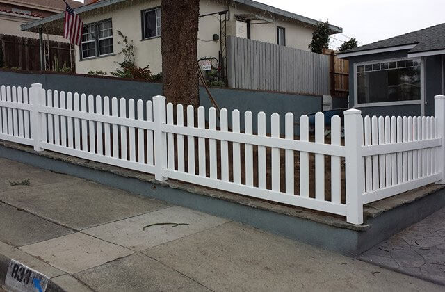 Custom Vinyl Picket Fence